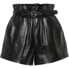 SAINT LAURENT High-rise leather shorts - Calções -
