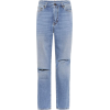 SAINT LAURENT High-waisted cropped jeans - Jeans -