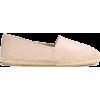 SAINT LAURENT Leather slip-on espadrille - Flats -