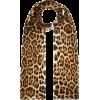 SAINT LAURENT Leopard print silk scarf - Sciarpe -