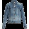 SAINT LAURENT  Logo-patch denim jacket - Jacket - coats -