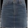 SAINT LAURENT Mid-rise denim mini skirt - Röcke -