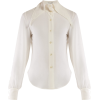 SAINT LAURENT  Point collar georgette bl - Long sleeves shirts -