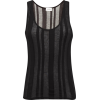 SAINT LAURENT Striped semi-sheer cotton- - Camisas sin mangas -