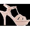 SAINT LAURENT Tribute 75 patent leather - Sandals -