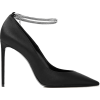 SAINT LAURENT Zoe chain-embellished sati - Klassische Schuhe -