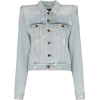 SAINT LAURENT exaggerated shoulder denim - Jacket - coats -