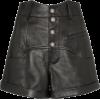 SAINT LAURENT high-waisted leather short - Hose - kurz - $1.89  ~ 1.62€