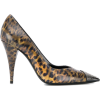 SAINT LAURENT leopard-print studded pump - Classic shoes & Pumps -