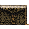 SAINT LAURENT medium Cassandra leopard-p - Hand bag -