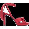 SAINT-LAURENT red sandal - Sandały -