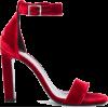 SAINT-LAURENT velvet ankle strap heel - Klasične cipele -