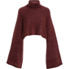 SALLY LAPOINTE cropped mohair turtleneck - Swetry -