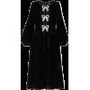 SALONICamille bow-embellished velvet mid - sukienki -