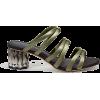 SALVATORE FERRAGAMO REFRACTED HEEL SANDA - Sandals -