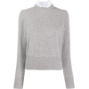 SANDRO PARIS sweatshirt with ribbed deta - Pullovers -