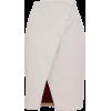 SARA BATTAGLIA White Velvet Skirt - Spudnice - 465.00€