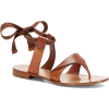 SARAH FLINT leather sandal - Sandały -