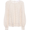SEE BY CHLOÉ Embroidered lace cotton top - Long sleeves shirts -