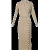 SELF-PORTRAIT Collared knit midi dress - Vestidos - £350.00  ~ 395.53€