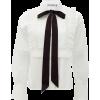 SELF-PORTRAIT Pussy-bow cotton blouse - 長袖シャツ・ブラウス -