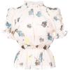 SELF-PORTRAIT floral ruffle peplum top - Shirts - $289.00