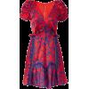 SELF-PORTRAIT red & blue dress - Kleider -