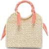 SENSI STUDIO  Mini silk-trimmed straw ba - Hand bag -