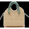 SENSI STUDIO  Silk-scarf straw tote bag - Torebki -