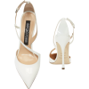 SERGIO ROSSI Godiva Patent Leather White - Zapatos clásicos -