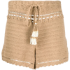 SHE MADE ME high-rise crochet shorts - Shorts -