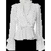 SHONA JOY Wilder Ruffled Wrap Blouse - Long sleeves shirts -