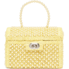 SHRIMPS Gaia faux-pearl treasure-chest h - Hand bag -