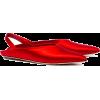SIMONE ROCHA Red 5 pointed Satin flats - Sandały -