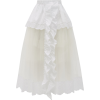 SIMONE ROCHA Ruffled poplin and tulle sk - Skirts -