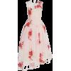 SIMONE ROCHA pink & red floral dress - Obleke -