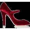 SIMONE ROCHA red velvet shoe - Classic shoes & Pumps -