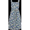 SKU FLORAL DENIM PINAFORE - Dresses -