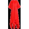 SOLACE LONDON Flared draped canvas midi  - Dresses -