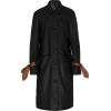 STAUD black and brown leather coat - Jakne in plašči -