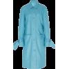STAUD blue leather coat - Jakne in plašči -