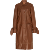 STAUD brown leather coat - Kurtka -