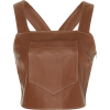 STAUD brown leather top - 半袖衫/女式衬衫 -