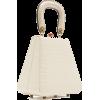 STAUD white croc effect handle bag - Torebki -