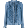 STEFFEN SCHRAUT ruffled denim shirt - Long sleeves shirts -