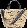 STELLA MCCARTNEY Logo raffia tote - Poštarske torbe -