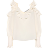STELLA MCCARTNEY Ruffled silk blouse - Long sleeves shirts -