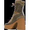 STELLA MCCARTNEY platform lace-up boots - Boots - $1,085.00