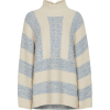 STRIPED OVERSIZED JUMPER IN CREAM - Pullovers - $195.00  ~ £148.20