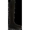 STUART WEITZMAN black suede boot - アウター -